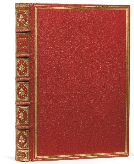 DAUDET, Alphonse (1840-1897). L'Immortel. Moeurs parisiennes. Paris: Alphonse Lemerre, 1888.