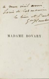 FLAUBERT, Gustave (1821-1880). Madame Bovary. Paris: Michel Lévy, 1857.