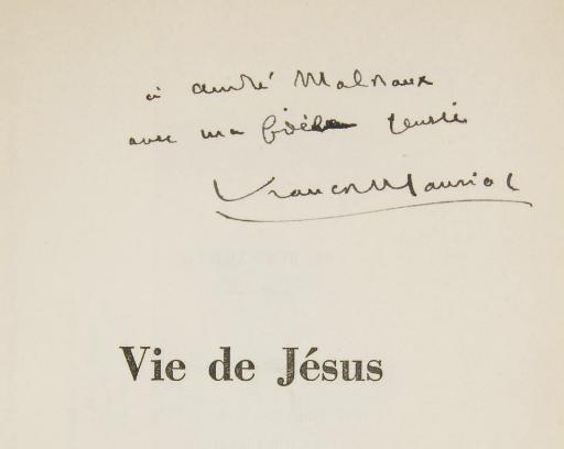 MAURIAC, François (1885-1970). Vie de Jésus. S.l.: Flammarion, [1936].