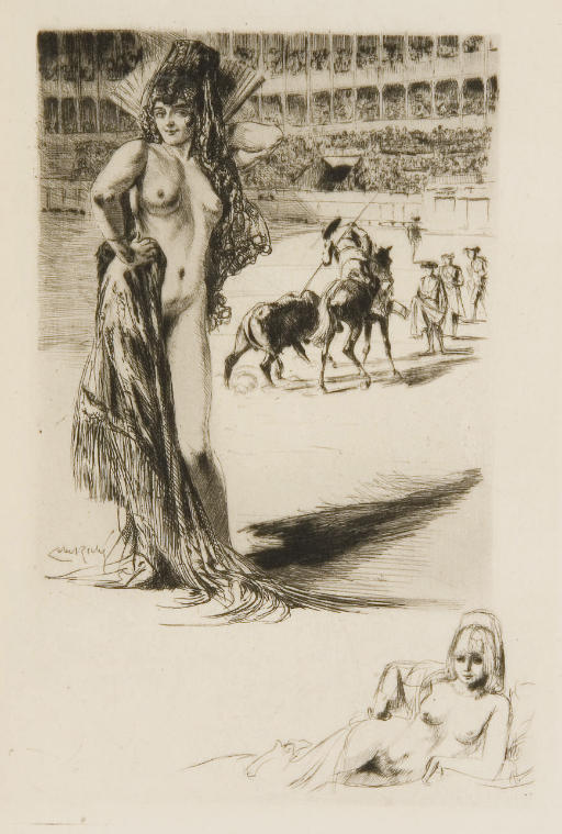 [LOBEL-RICHE] -- REBOUX, Paul (1877-1963). La Maison de danses. Roman. Illustré de pointes sèches par Lobel-Riche. Paris: pour le compte des auteurs, 1928.