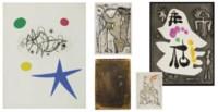 TZARA, Tristan (1896-1963). L'Antitête. I: Monsieur Aa l'Antiphilosophe. Eaux-fortes de Max Ernst. II: Minuits pour géants. Eaux-fortes par Yves Tanguy. III: Le Désespéranto. Eaux-fortes de Joan Miró. Paris: Bordas, 1949.