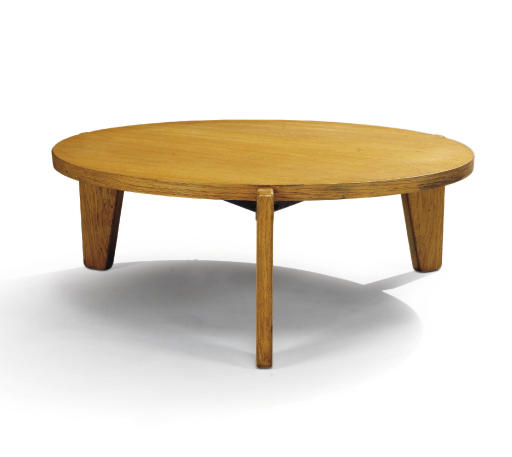 Jean prouve 1901 1984 table basse circulaire vers - Table basse jean prouve ...