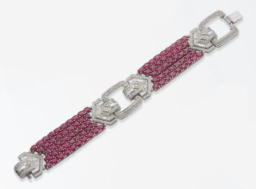BRACELET RUBIS ET DIAMANTS