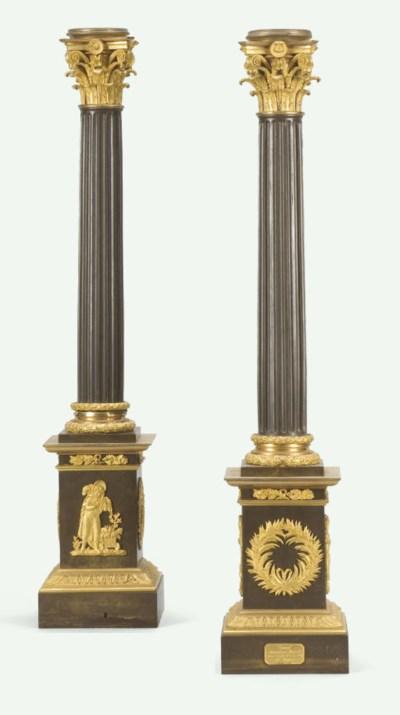 PAIRE DE LAMPES CARCEL D'EPOQU