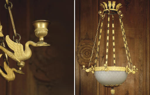 LUSTRE D'EPOQUE RESTAURATION
