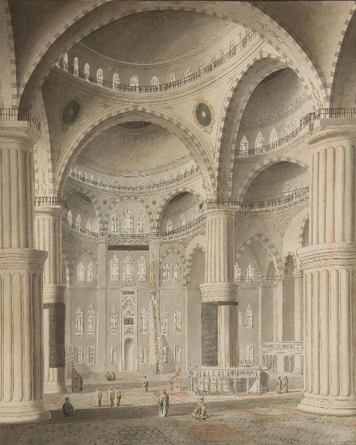 Vue intérieure de la Mosquée du Sultan Ahmed I