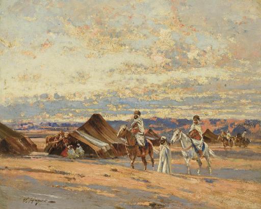 Cavaliers dans le désert