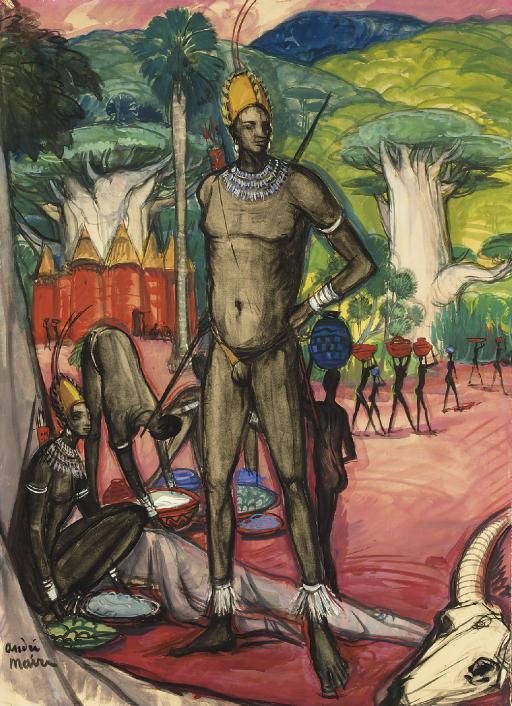 Archer somba, Dahomey