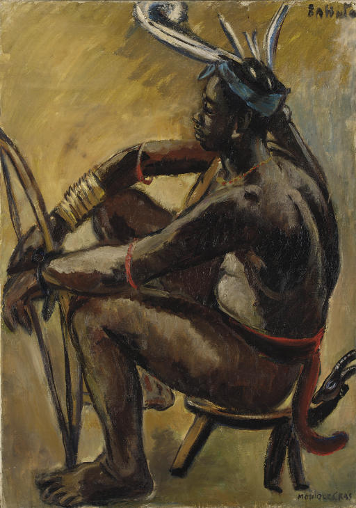 Archer Lobi assis, Gaoua, Haute-Volta