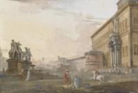 Veduta del palazzo del Quirinale, Roma