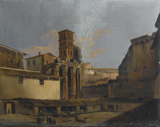 Veduta del tempio di Marte Ultore nel Foro di Augusto, Roma