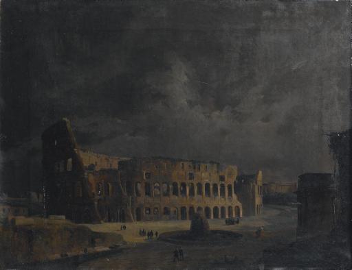 Veduta notturna del Colosseo, Roma