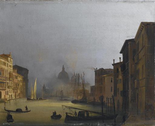 Veduta della Chiesa della Salute dal Ponte dell'Accademia, Venezia