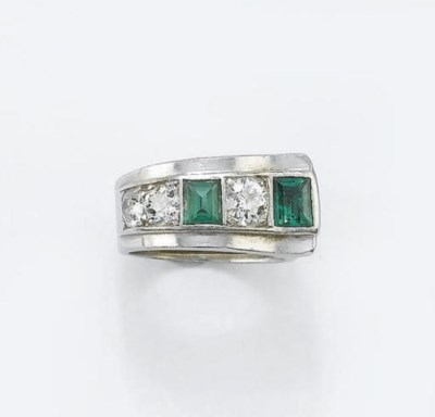 ANELLO ART DECO CON DIAMANTI E