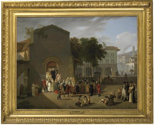La sortie du temple, 1810