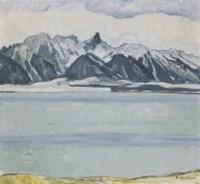 Thunersee mit Stockhornkette im Winter, 1912/13
