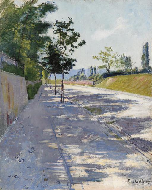 Strasse von St. Georges bei Genf, um 1890