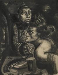 Frau mit Clown, 1932