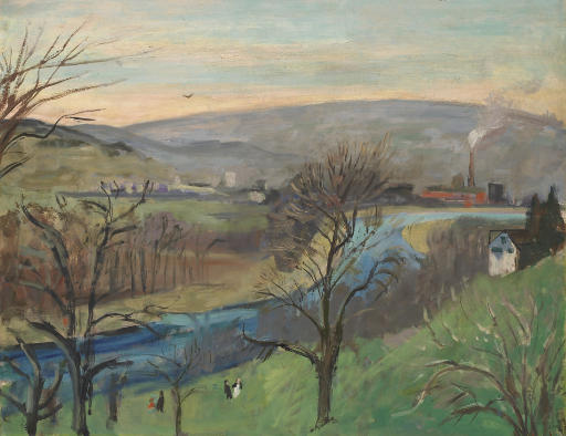 Blick vom Atelierhaus (Das Limmattal), 1940