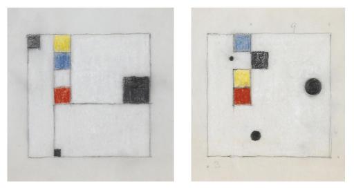 Sammelnummer von zwei Werken: 'Farbstudien', um 1954
