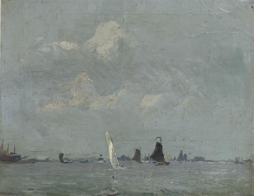 Sailing boats on open water