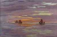 Sailing boats by the English coast