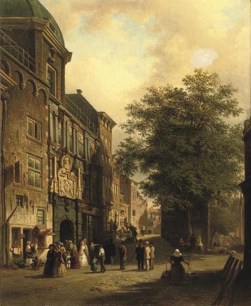 Daily activities near the Groothoofdspoort, Dordrecht