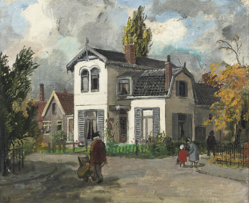 A white house in Oegstgeest