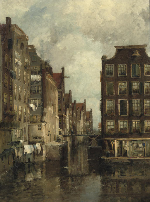 A view of the Kolk, Amsterdam