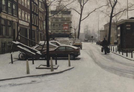 Haarlemmerplein in winter, Amsterdam