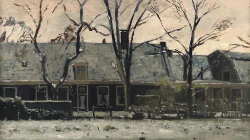 Huizen in de sneeuw, Overveen