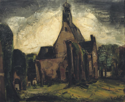 De ruïnekerk in Bergen (NH)