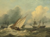 Shipping off the coast of Franeker