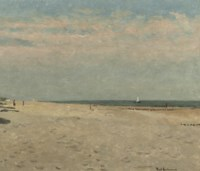 A quiet day on the beach near Domburg