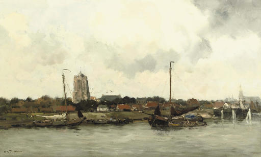 Along the waterfront with the Sint Lievensmonstertoren in the distance, Zierikzee