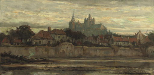 The Sint Jan cathedral at sunset, Den Bosch