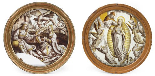 A FLEMISH STAINED-GLASS ROUNDE