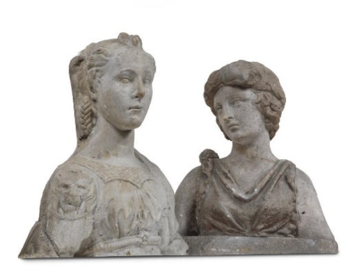 A COMPOSITE STONE BUST OF A LA