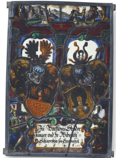 A SWISS STAINED-GLASS FRAGMENT