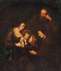 The Holy Family with the Infant Saint John the Baptist and Saint Elizabeth