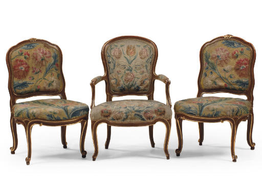 A PAIR OF AUSTRIAN PARCEL-GILT