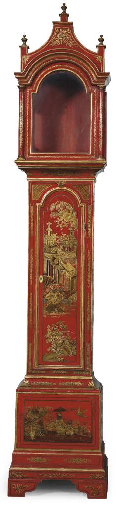 A GEORGE III RED AND GILT-JAPA