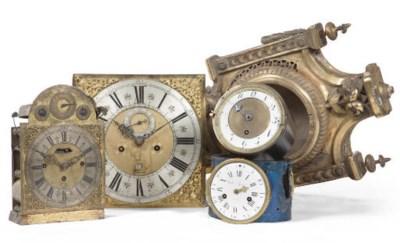 FOUR VARIOUS CLOCK MOVEMENTS