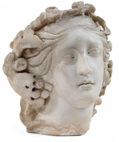 A FRAGMENTARY CARVED MARBLE HE
