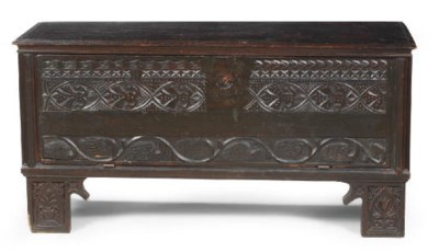 AN AUSTRIAN STAINED PINE CHEST