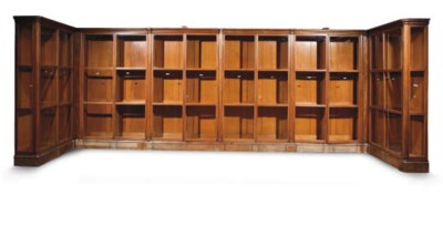 AN AUSTRIAN OAK BOOKCASE
