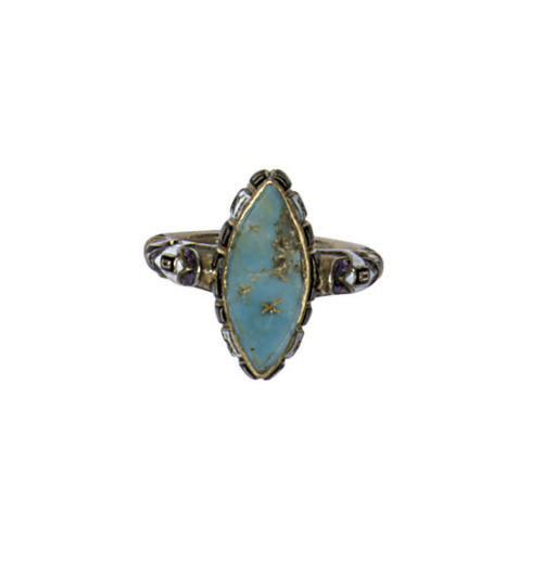 AN ANTIQUE TURQUOISE AND ENAME