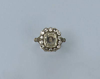 A RARE ANTIQUE DIAMOND PORTRAI