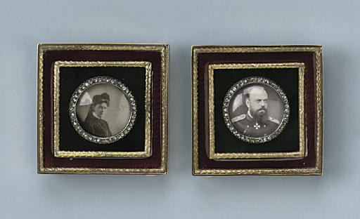 A PAIR OF RUSSIAN PHOTO FRAMES