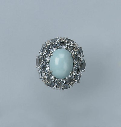 AN AQUAMARINE AND TURQUOISE RI